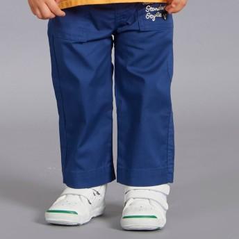 ミキハウス 刺繍付きベイカーパンツ 紺