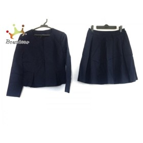 アナイ ANAYI スカートスーツ サイズ38 M レディース ネイビー  値下げ 20191010