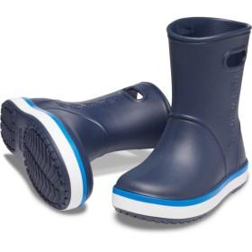【クロックス公式】 クロックバンド レイン ブーツ キッズ Kids' Crocband Rain Boot ユニセックス、キッズ、子供用、男の子、女の子、男女兼用 ブルー/青 14cm,15cm,15.5cm,16.5cm,17.5cm,18cm,18.5cm,19cm,19.5cm,20cm,21cm boot ブーツ