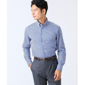 ドレステリア コットン ギンガムチェックボタンダウンシャツ メンズ ネイビー(893) 39(M) 【DRESSTERIOR】