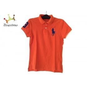 ラルフローレン 半袖ポロシャツ サイズM レディース ビッグポニー オレンジ×ネイビー 新着 20190807