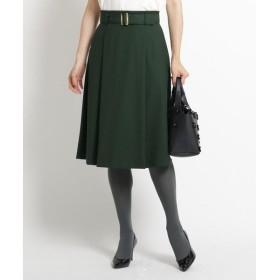 SunaUna / スーナウーナ 【洗える】ツイルストレッチベルテッドスカート