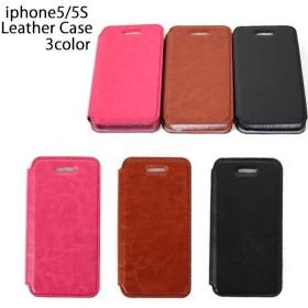Apple iPhone5/5S レザー手帳型ケース カバー スマホ iphone5 iphone5s 革-P117