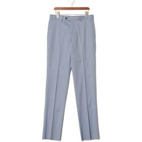 【75%OFF】フロントタブ センタープレス パンツ ブルー 82