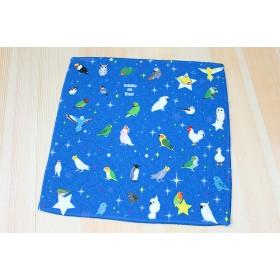 ◆星とインコミニハンドタオル♪
