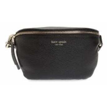 ケイト スペード KATE SPADE NEW YORK レディース ボディバッグ・ウエストポーチ バッグ medium polly leather belt bag Black