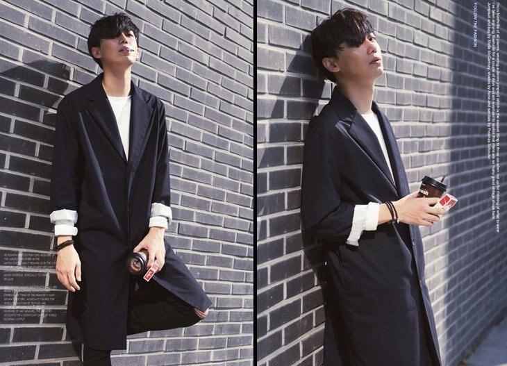 韓國 雅痞 長版 西裝外套  潮流 外套 男  正版