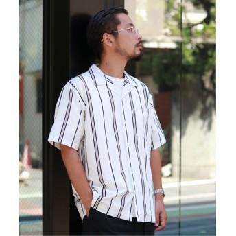 JOURNAL STANDARD FIGURED オープンカラーシャツ ホワイト L