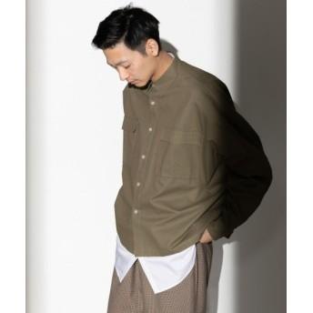 【16%OFF】 センスオブプレイス ドロップショルダーワークシャツ メンズ KHAKI L 【SENSE OF PLACE】 【タイムセール開催中】