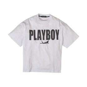 PLAYBOY(プレイボーイ)綿100% BIGロゴプリント半袖Tシャツ Tシャツ・カットソー