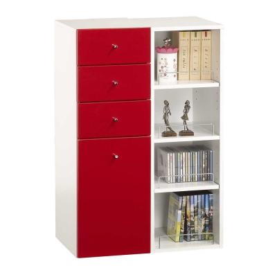 米妮Mini 大細縫/抽屜收納櫃組-紅色