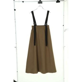 【5,000円以上お買物で送料無料】・SUGAR SPOON サスペンダー付フレアスカート