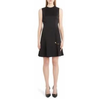 ヴェルサーチ VERSACE レディース ワンピース ワンピース・ドレス Safety Pin A-Line Dress Black