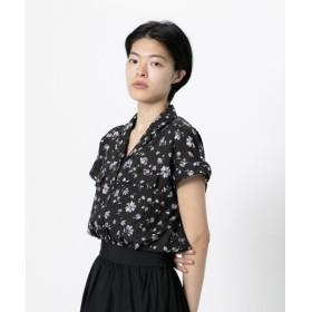 【51%OFF】 センスオブプレイス オープンカラーシャツ(半袖) レディース BLK×PNK FREE 【SENSE OF PLACE】 【セール開催中】