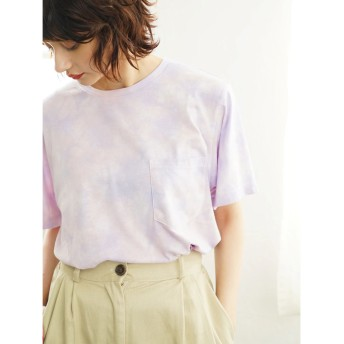 イーハイフンワールドギャラリー E hyphen world gallery タイダイビッグTシャツ (Lavender)