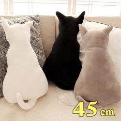 療癒系背影貓咪抱枕靠墊 45CM