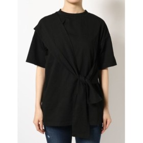 (EMODA/エモダ)タイオーバーTシャツ/レディース ブラック