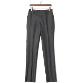 【78%OFF】フロントタブ センタープレス パンツ グレー 75