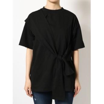 エモダ タイオーバーTシャツ レディース ブラック F 【EMODA】