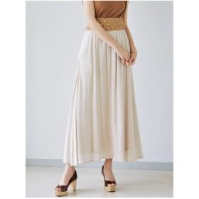 LAGUNAMOON ラメストライプスカート(ブラウン)