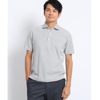 TAKEO KIKUCHI / タケオキクチ [大きいサイズ] メランジハニカム ボーダー ポロシャツ