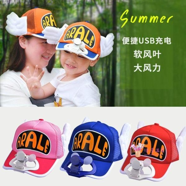 風扇帽 兒童遮陽帽親子帶子女孩夏季充電防曬帽男童戶外出游遮陽帽 多色