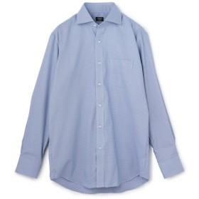メンズビギ 《吸水速乾/EASY CARE》ワイドカラーシャツ/千鳥格子柄/ナチュラルストレッチ メンズ ブルー LL 【Men's Bigi】
