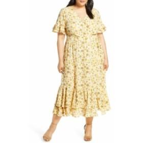 シーシー CECE レディース ワンピース ワンピース・ドレス Moroccan Tile Ruffle Dress Turmeric Spice