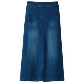 GeeRA ストレッチデニムロングスカート ブルー M レディース 5,000円(税抜)以上購入で送料無料 ロングスカート 夏 レディースファッション アパレル 通販 大きいサイズ コーデ 安い おしゃれ お洒落 20代 30代 40代 50代 女性 スカート