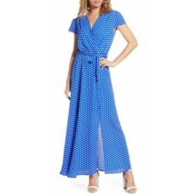 フレーシュ FRAICHE BY J レディース ワンピース ワンピース・ドレス Polka Dot Faux Wrap Maxi Dress Celin