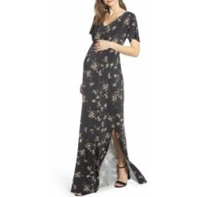 ティファニーローズ TIFFANY ROSE レディース ワンピース ワンピース・ドレス Floral Maternity Maxi Dress Black