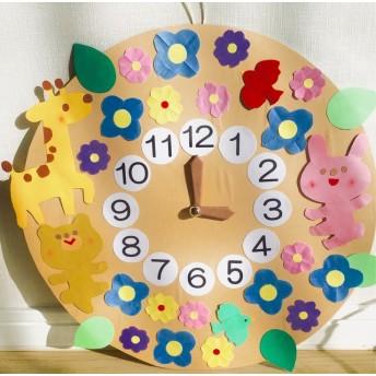 動物の子ども教育時計★針が動く保育壁面飾りに☆数ととけいのお勉強に!保育園や幼稚園おうちで壁掛けで可愛く飾って★