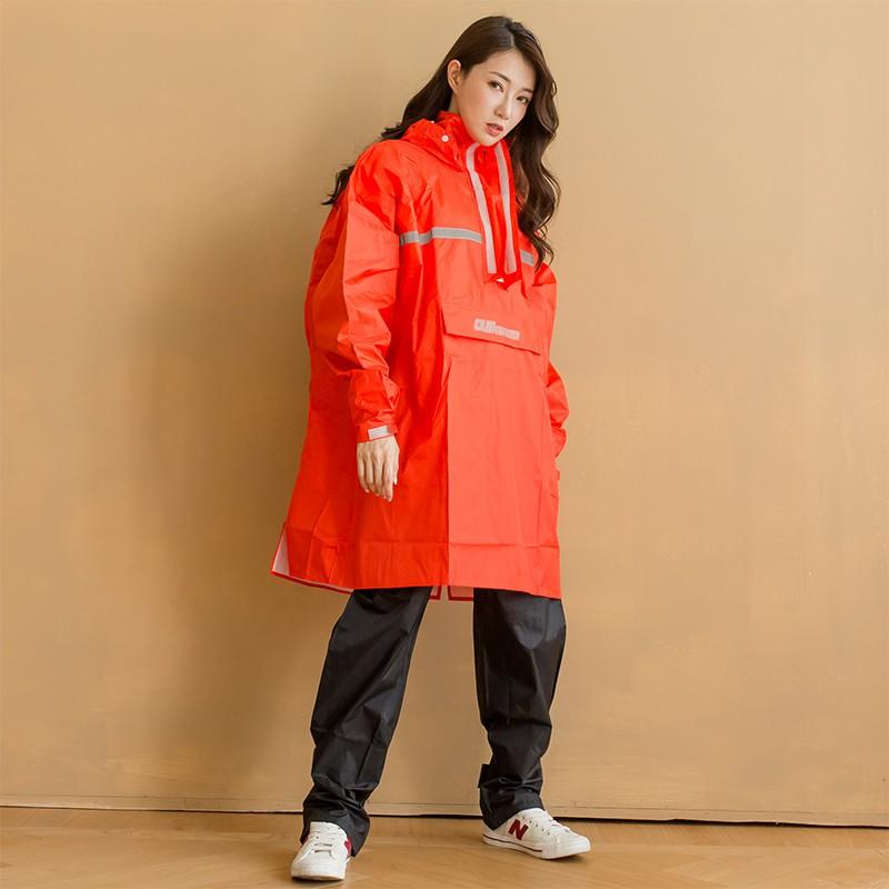 BrightDay藏衫背包太空短版風雨衣(不含褲子)-紅
