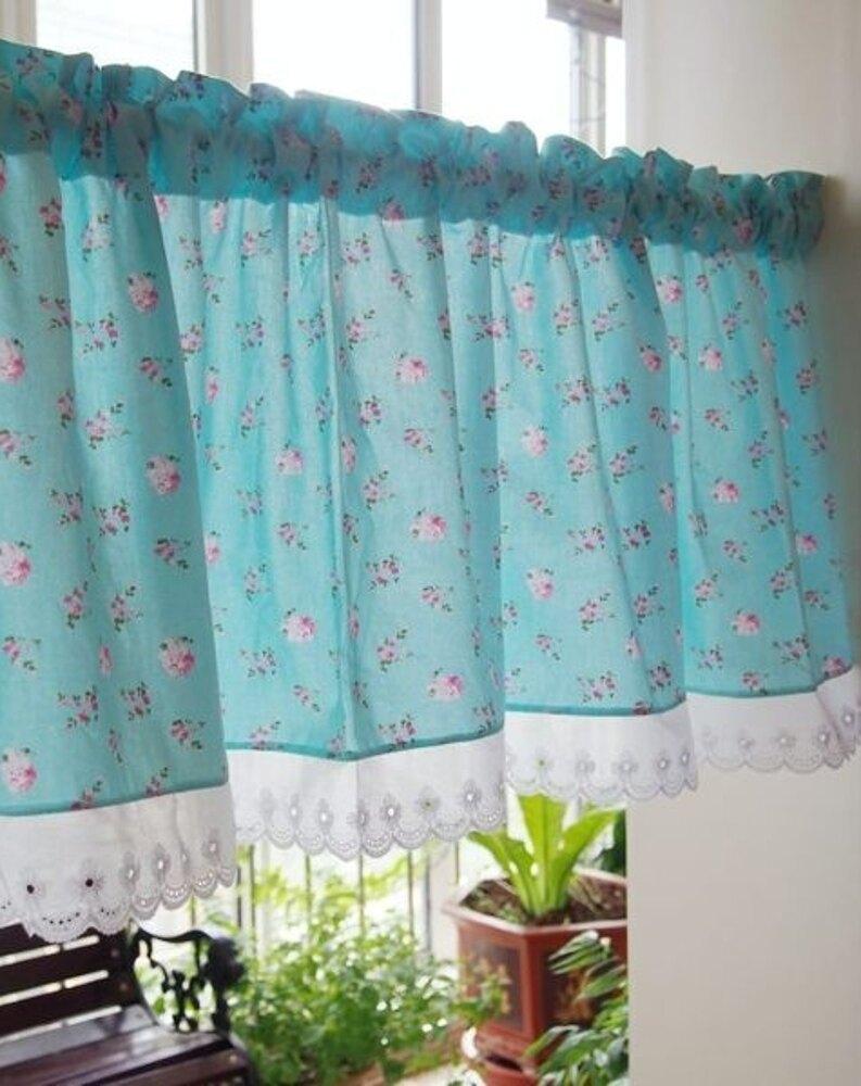 可愛時尚田園門簾209 廚房半簾 咖啡簾 窗幔簾 穿杆簾 (155*50cm) 風水簾