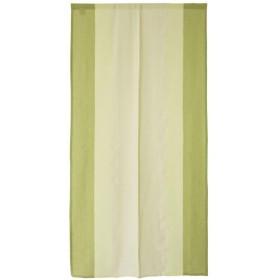 SunnyDayFabric ロング丈のれん マティストライプ グリーン 綿 ナチュラル 約85cm幅×170cm丈