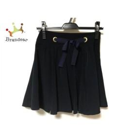 アプワイザーリッシェ ミニスカート サイズ0 XS レディース 美品 ネイビー リボン 新着 20190807