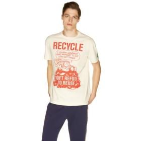 (BENETTON (UNITED COLORS OF BENETTON)/ベネトン(ユナイテッド カラーズ オブ ベネトン))【スヌーピーコラボ】Tシャツ・カットソーJCC/メンズ オレンジ
