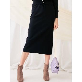 [MERCURYDUO]リボン付ハイウエストニットスカート