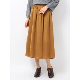 【6,000円(税込)以上のお買物で全国送料無料。】e サテンギャザースカート