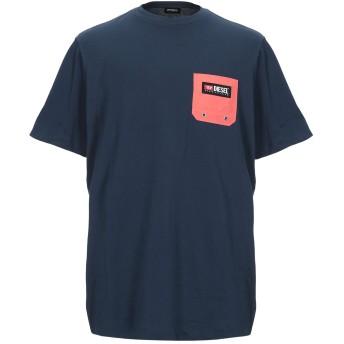 《期間限定セール開催中!》DIESEL メンズ T シャツ ダークブルー L コットン 100%