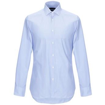 《9/20まで! 限定セール開催中》CORNELIANI メンズ シャツ アジュールブルー 39 コットン 100%