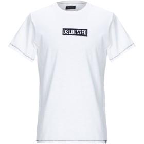 《期間限定セール開催中!》DSTREZZED メンズ T シャツ ホワイト L コットン 100%