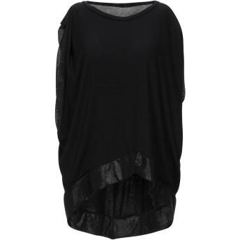 《9/20まで! 限定セール開催中》LU レディース T シャツ ブラック 2 レーヨン 85% / ポリエステル 15%