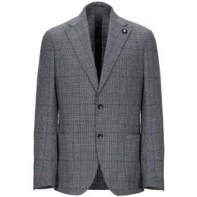 《期間限定セール開催中!》LARDINI メンズ テーラードジャケット グレー 50 ウール 100%
