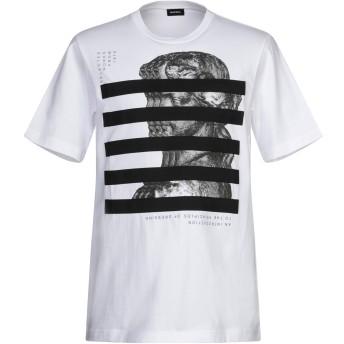 《期間限定セール開催中!》DIESEL メンズ T シャツ ホワイト S コットン 100% / ポリエステル