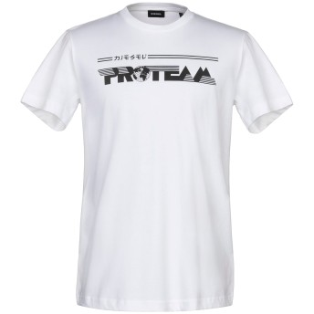 《9/20まで! 限定セール開催中》DIESEL メンズ T シャツ ホワイト L コットン 100%