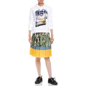 【79%OFF】シルクアコーディオンプリーツ プリント 配色 スカート マルチ 40