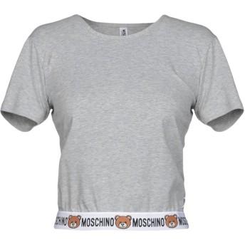 《セール開催中》MOSCHINO レディース アンダーTシャツ ライトグレー XS コットン 92% / ポリウレタン 8%
