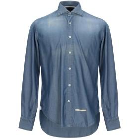 《期間限定セール開催中!》TINTORIA MATTEI 954 メンズ デニムシャツ ブルー 39 コットン 100%