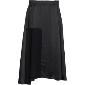 《期間限定 セール開催中》ALESSANDRO DELL'ACQUA レディース 7分丈スカート ブラック 40 ポリエステル 100%